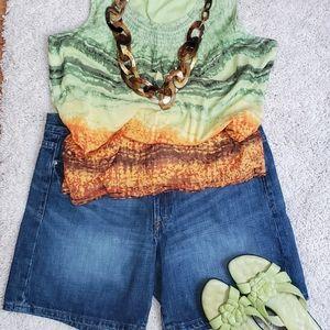 Calvin Klein Jeans ~ Women's Denim Bermuda Short